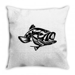 predator bass fish Throw Pillow | Artistshot