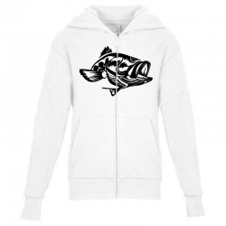 predator bass fish Youth Zipper Hoodie | Artistshot