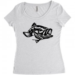 predator bass fish Women's Triblend Scoop T-shirt | Artistshot