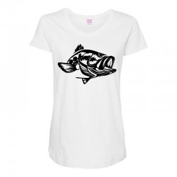 predator bass fish Maternity Scoop Neck T-shirt | Artistshot