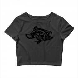 predator bass fish Crop Top | Artistshot