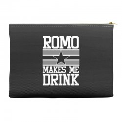 romo makes me drink Accessory Pouches | Artistshot