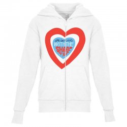i'm in love with the shape of you Youth Zipper Hoodie | Artistshot