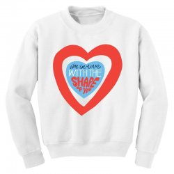 i'm in love with the shape of you Youth Sweatshirt | Artistshot