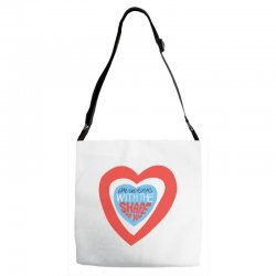 i'm in love with the shape of you Adjustable Strap Totes | Artistshot