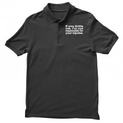 if you tickle i'm not responsible Polo Shirt | Artistshot