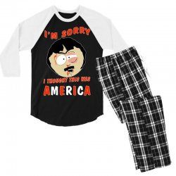 i thought this was america Men's 3/4 Sleeve Pajama Set | Artistshot