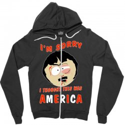 i thought this was america Zipper Hoodie | Artistshot