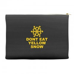 don't eat yellow snow Accessory Pouches | Artistshot