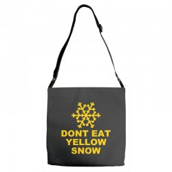 don't eat yellow snow Adjustable Strap Totes | Artistshot
