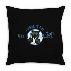 coal tar blue Throw Pillow | Artistshot