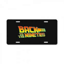 back to the 90s License Plate | Artistshot