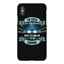the voices in my head keep telling me to go swimming iPhoneX Case | Artistshot
