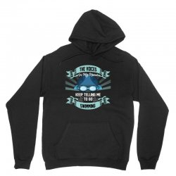 the voices in my head keep telling me to go swimming Unisex Hoodie | Artistshot