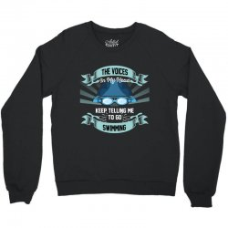 the voices in my head keep telling me to go swimming Crewneck Sweatshirt | Artistshot