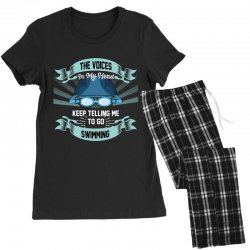 the voices in my head keep telling me to go swimming Women's Pajamas Set | Artistshot