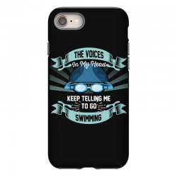 the voices in my head keep telling me to go swimming iPhone 8 Case | Artistshot