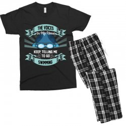 the voices in my head keep telling me to go swimming Men's T-shirt Pajama Set | Artistshot