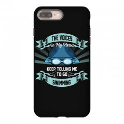 the voices in my head keep telling me to go swimming iPhone 8 Plus Case | Artistshot