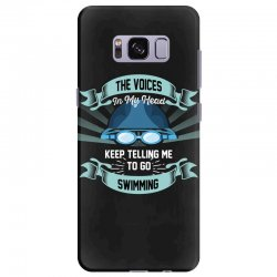 the voices in my head keep telling me to go swimming Samsung Galaxy S8 Plus Case | Artistshot