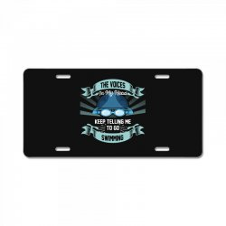 the voices in my head keep telling me to go swimming License Plate | Artistshot