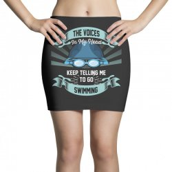 the voices in my head keep telling me to go swimming Mini Skirts | Artistshot