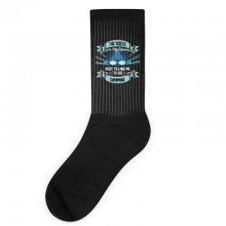 the voices in my head keep telling me to go swimming Socks | Artistshot