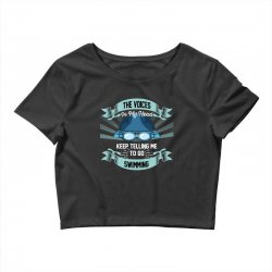 the voices in my head keep telling me to go swimming Crop Top | Artistshot