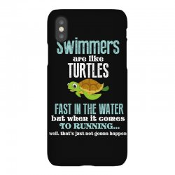 swimmers are like turtles fast in the water but when it comes to runni iPhoneX Case   Artistshot