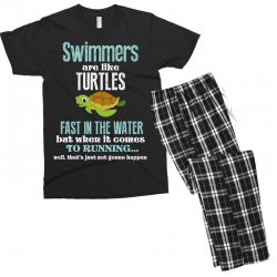 swimmers are like turtles fast in the water but when it comes to runni Men's T-shirt Pajama Set   Artistshot