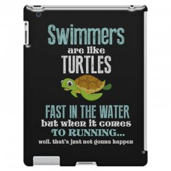 swimmers are like turtles fast in the water but when it comes to runni iPad 3 and 4 Case   Artistshot