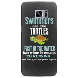 swimmers are like turtles fast in the water but when it comes to runni Samsung Galaxy S7 Edge Case   Artistshot