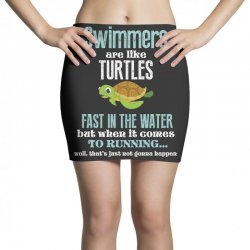 swimmers are like turtles fast in the water but when it comes to runni Mini Skirts   Artistshot