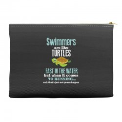 swimmers are like turtles fast in the water but when it comes to runni Accessory Pouches   Artistshot