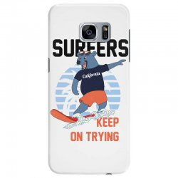 surfers keep on trying Samsung Galaxy S7 Edge Case | Artistshot