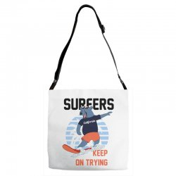 surfers keep on trying Adjustable Strap Totes | Artistshot