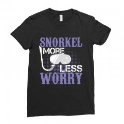 snorkel more less worry Ladies Fitted T-Shirt   Artistshot