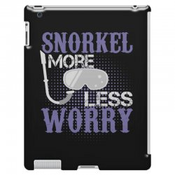 snorkel more less worry iPad 3 and 4 Case   Artistshot