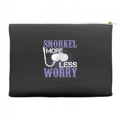 snorkel more less worry Accessory Pouches   Artistshot
