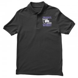 snorkel more less worry Polo Shirt   Artistshot