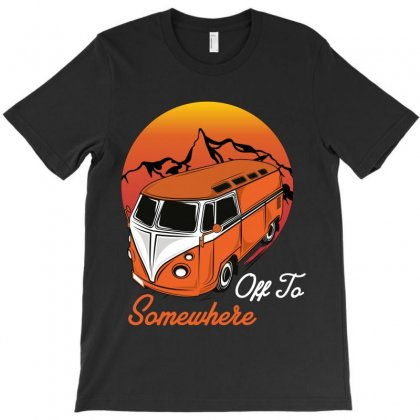 Off To Somewhere T-shirt Designed By Wizarts