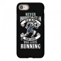 never underestimate an old man who loves running iPhone 8 Case | Artistshot