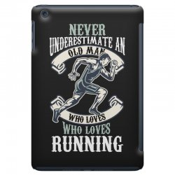 never underestimate an old man who loves running iPad Mini Case | Artistshot