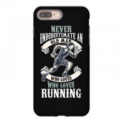 never underestimate an old man who loves running iPhone 8 Plus Case | Artistshot