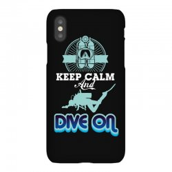 keep calm and dive on iPhoneX Case | Artistshot