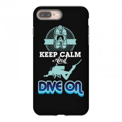keep calm and dive on iPhone 8 Plus Case | Artistshot