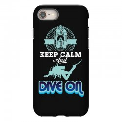 keep calm and dive on iPhone 8 Case | Artistshot