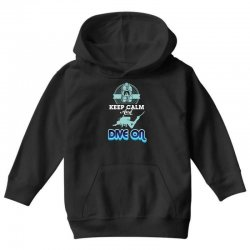 keep calm and dive on Youth Hoodie | Artistshot