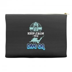 keep calm and dive on Accessory Pouches | Artistshot