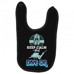 keep calm and dive on Baby Bibs | Artistshot